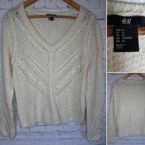 H&M crochet sweater size M